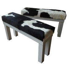 <p>Cow Hide Benches</p>