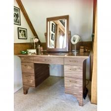 <p>Walnut Veneered Dressing Table</p>