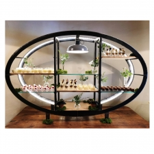 <p>Steel framed display unit</p>
